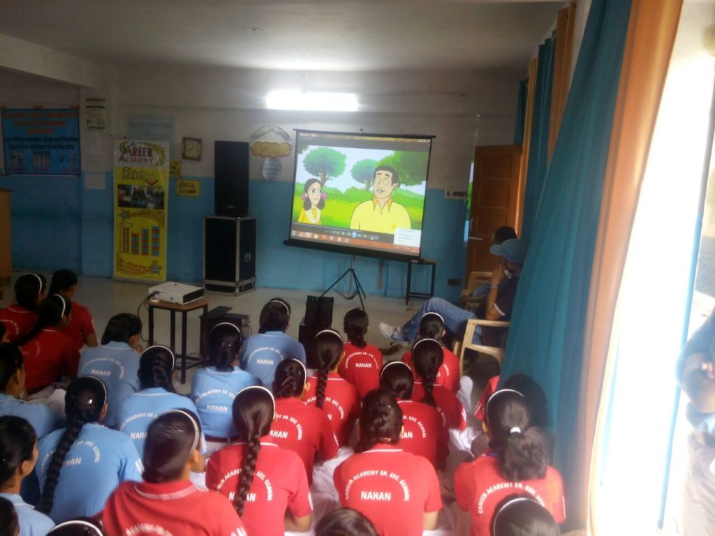 Video Shown to the students on importance of voting right.